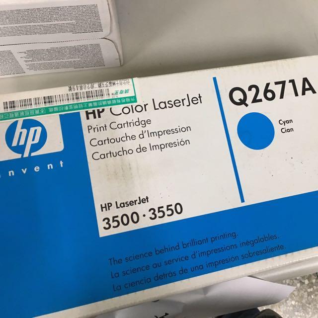 HP碳粉匣Q2671A(藍)全新未拆