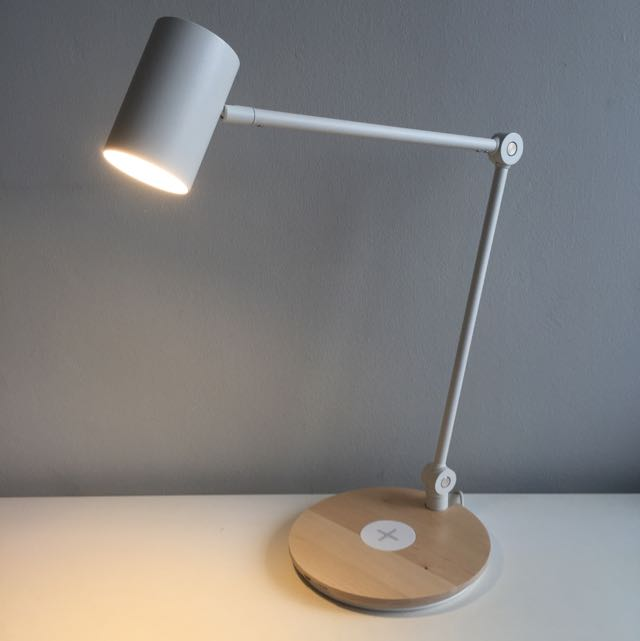 sold ikea riggad work lamp with wireless charging. Black Bedroom Furniture Sets. Home Design Ideas