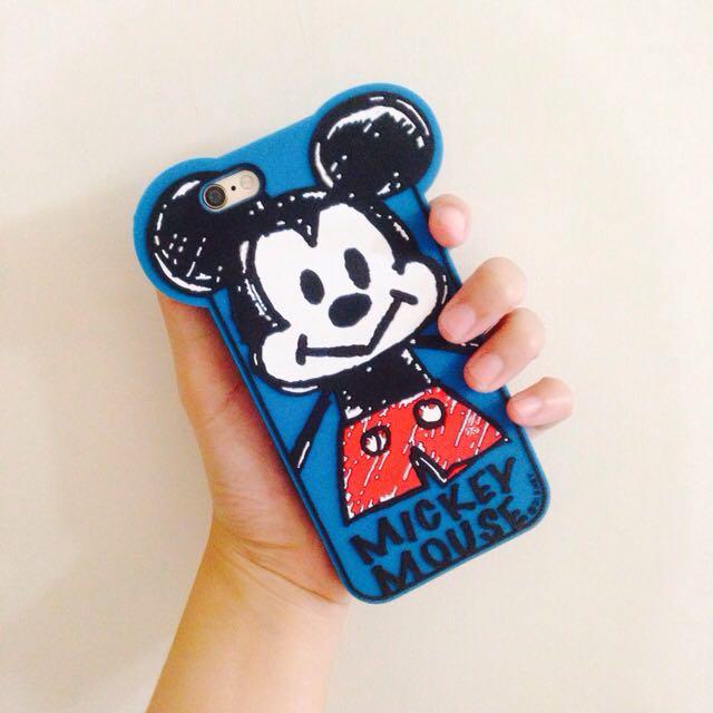 (二手)iPhone 6/6s 4.7吋藍色米奇手機殼 軟殼全包