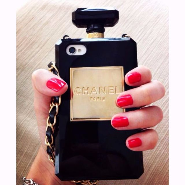 iPhone 6 Plus Chanel Perfume Bottle iPhone Case with Chain
