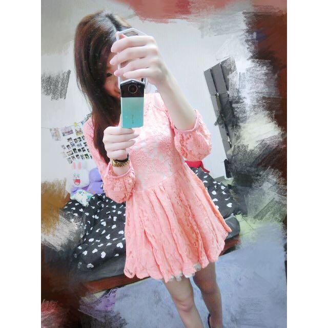二手*日本專櫃Liz Lisa正品 蕾絲 透紗 小性感洋裝