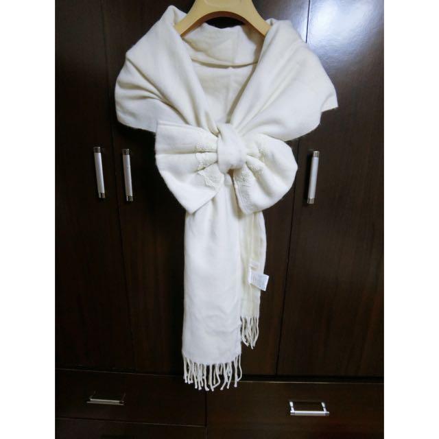 二手*日本專櫃Liz Lisa正品 熱賣 蝴蝶結 圍巾 披肩