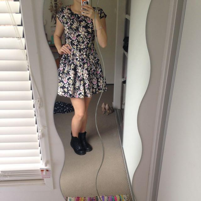 Miss Cherry Acid Floral Dress