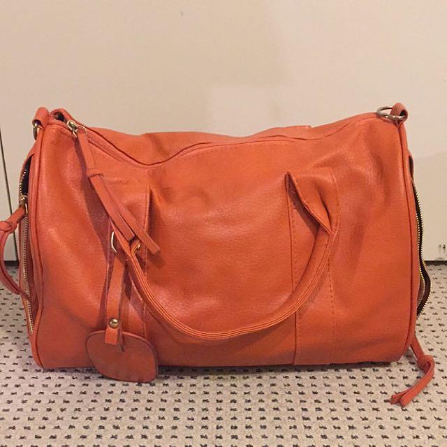 Orange Small Carryall Bag