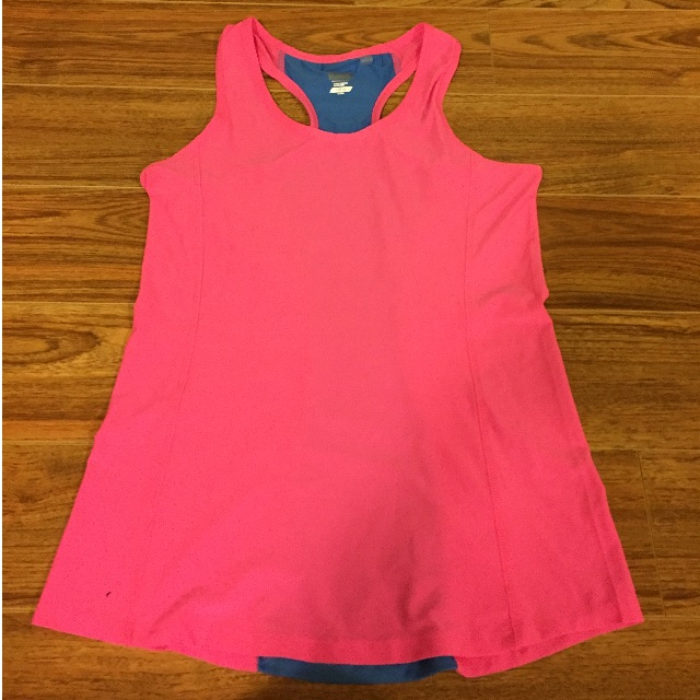 Pink and Blue Bonds Gym Top