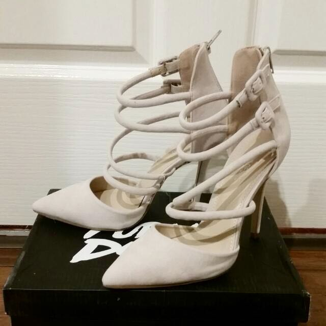 Public Desire Pointed Strappy Heels