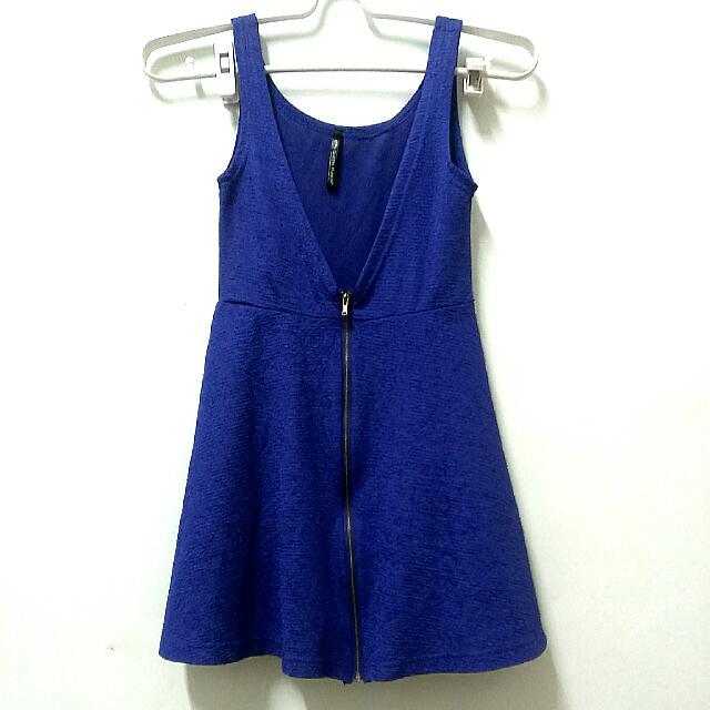 QUEEN PUNCH寶藍色性感短洋裝