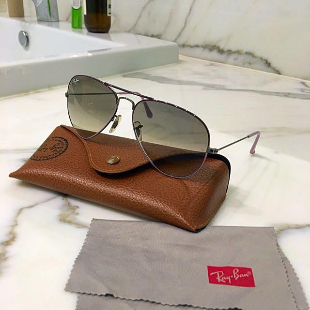 Ray Ban Aviator Sunglasses Lilac