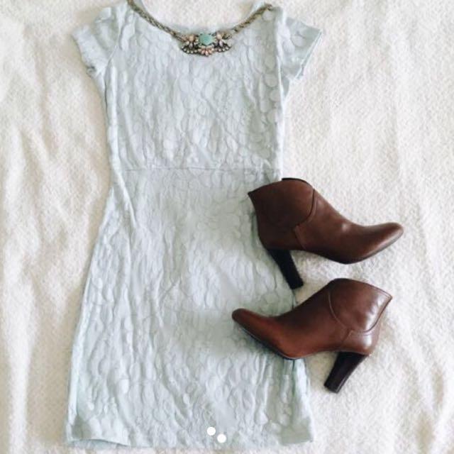 Sales Brandnew Pastel Blue Lace Dress