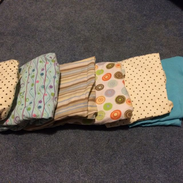 Set Of 6 Bassinet Sheets