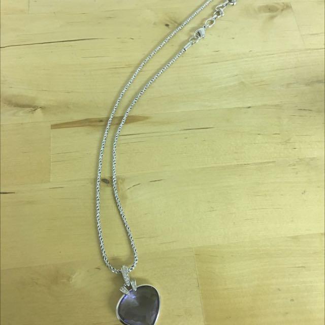 Swarovski Purple Pendant Necklace