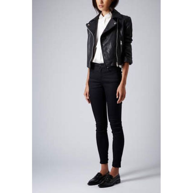 Topshop Moto Black Leigh Ankle Grazers