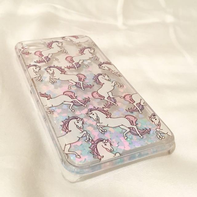 Unicorn Glitter iPhone 5/5S/SE Case