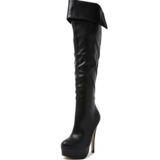 Verali Livid Thigh High Leather Boots