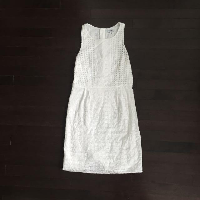 White Eyelet Dress by Old Navy