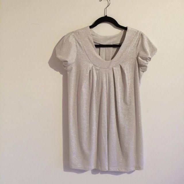 White Glittery Dress-Top