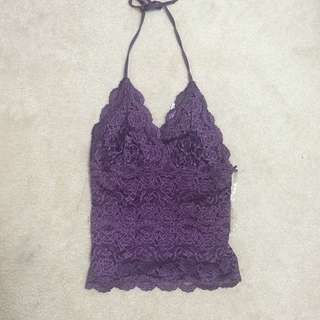 Purple Halter Top