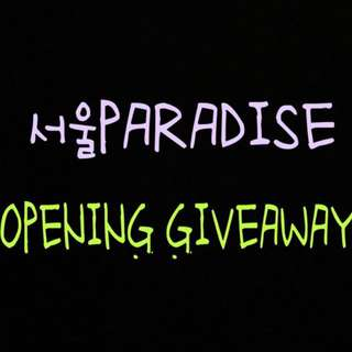 @seoulparadise First Giveaway