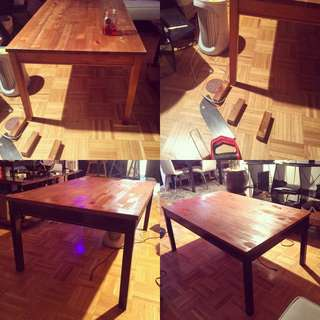 Dinner Table Converted To Coffee Table