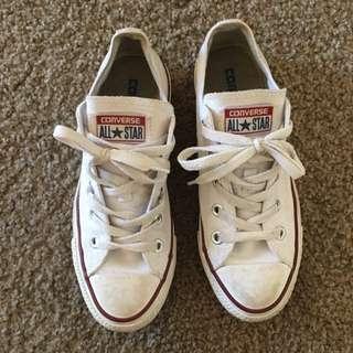 White Low Converse
