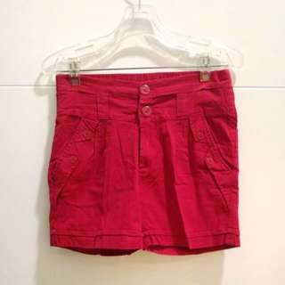 Shorts Red and Pink