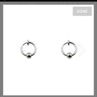 小珠圈圈耳環(夾式)GD style