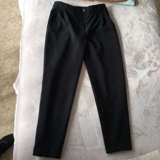 Missguided Black Tailored Peg Leg Trousers