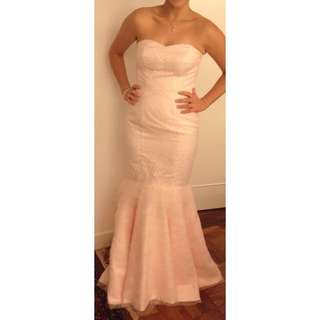 Custom Made Strapless Fishtail Dress