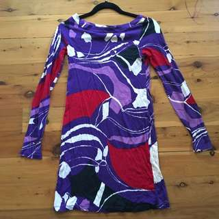 French Connection Purple Swirl Cotton Top