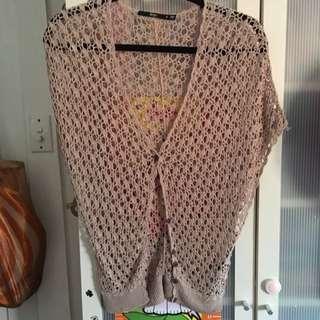 Sports Girl Brown Woven Cardigan Top