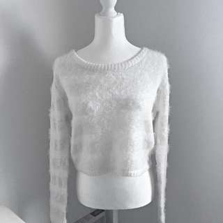 Quirky Circus - Cream Fuzzy Sweater