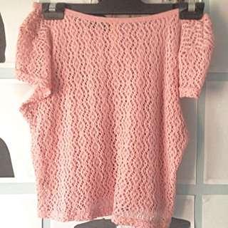 Pink Crotchet Top