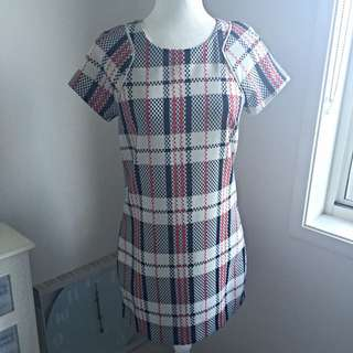 Plaid Pattern Dotti Dress