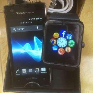 (reduce) sony xperia ray dan iwatch smart watch GT08