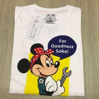 全新日本帶回X-Girl T-shirt 與迪士尼聯名