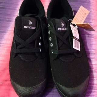 Brand New Dunlop Black Volley Classic Shoes
