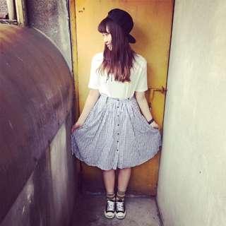 2way格子裙 #吊帶裙 #文青 #可愛風