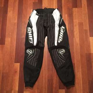 Motocross Pants Unisex Size 30 Black And White Shift