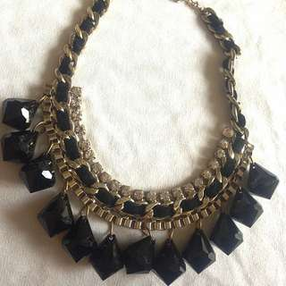 Sparkle Black Necklace