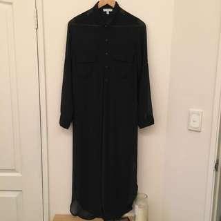 Black Maxi Sheer Dress