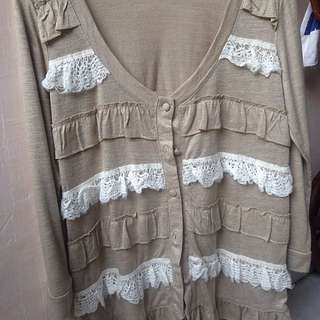 Korean Shirt In Light Brown