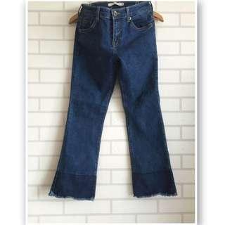韓製小喇叭牛仔褲