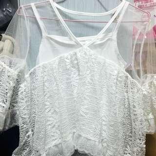 韓版夢幻公主風 透視感上衣