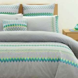 Aura by Tracie Ellis | Lattice Range | Bed Covers Sheet King Size Quilts NEW + Pillow Cases