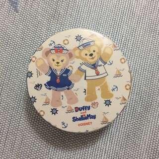 香港迪士尼 達菲雪莉玫手帕
