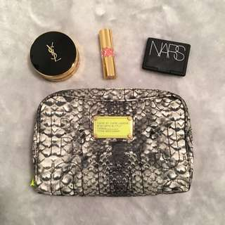 Marc By Marc Jacobs Python-print Cosmetic Bag