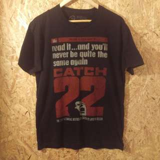 Catch 22 t shirt. old book. good read. M