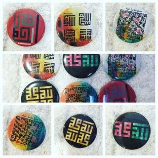 Kufi Button Badge