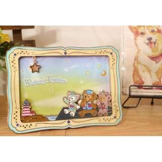 (現貨)東京15周年紀念版 許願相框 迪士尼海洋 達菲/雪莉玫/傑拉托尼畫家貓