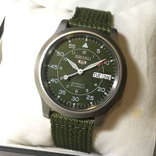 Seiko SNK805K Military watch
